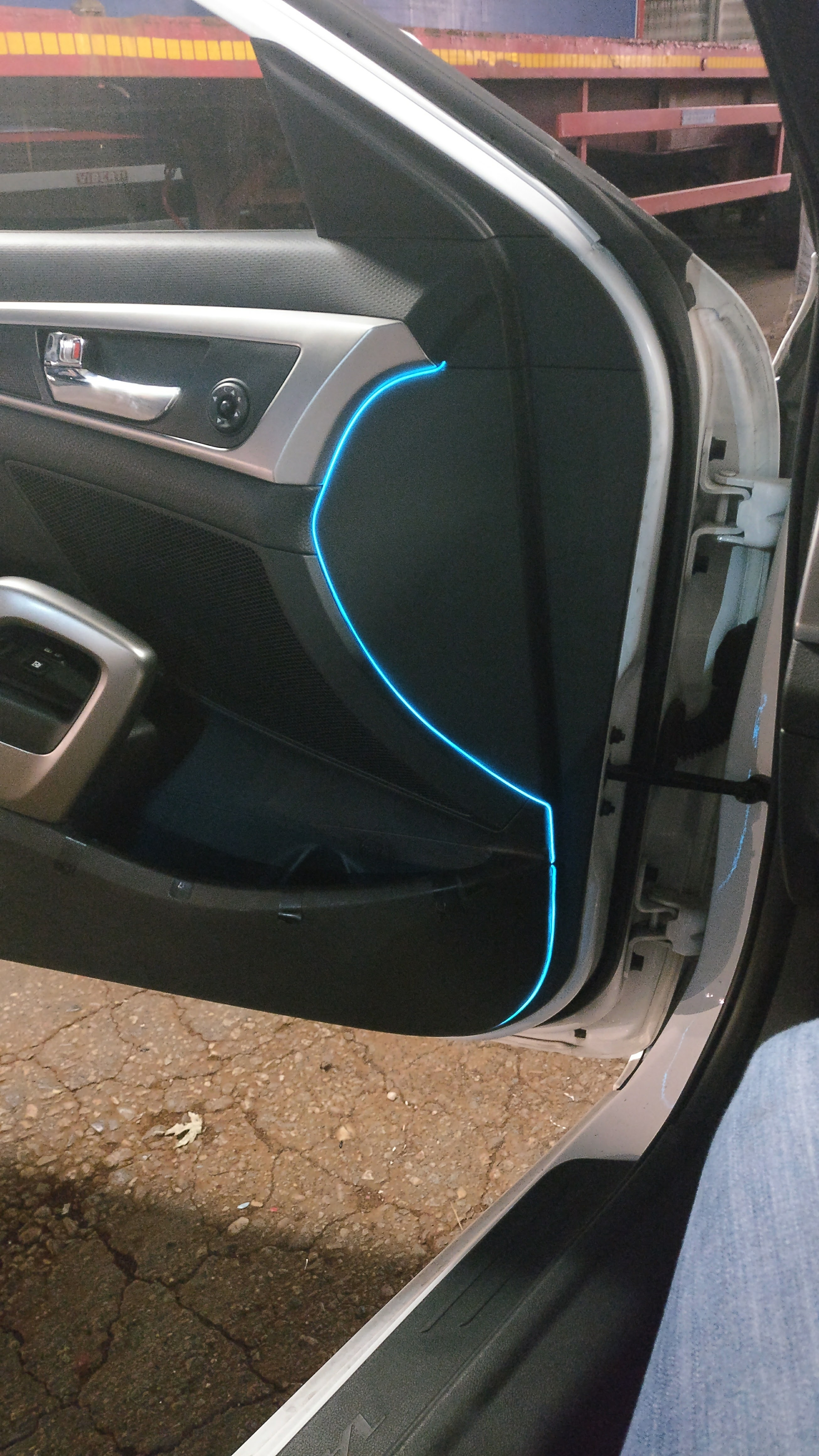 EL Wire Car doors installation | SharpEdge Blog